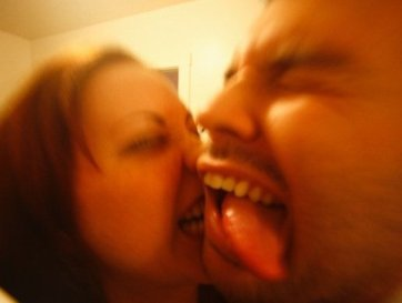Probably one of my favorite pictures of me and the Calm-ass Husband. Being silly = sexy.