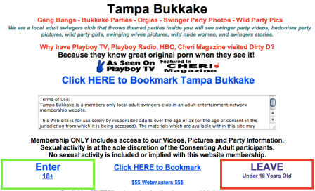 Tampa Bukkake. Not to be confused with the other Florida regional bukkake clubs.